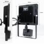 30W LED Strahler für Außen mit Bewegungsmelder Flutlicht Außenlampe Kaltweiß IP54 , LED Scheinwerfer