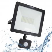 50W LED Strahler für Außen mit Bewegungsmelder Flutlicht Außenlampe Kaltweiß IP54 , LED Scheinwerfer