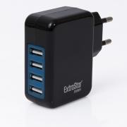 4-Port 4.1A USB Ladegerät Ladestation Schwarz