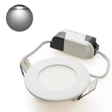 LED Panel Ultraslim Rund Einbaustrahler 4W