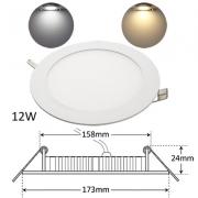 LED Panel Ultraslim Rund Einbaustrahler 12W