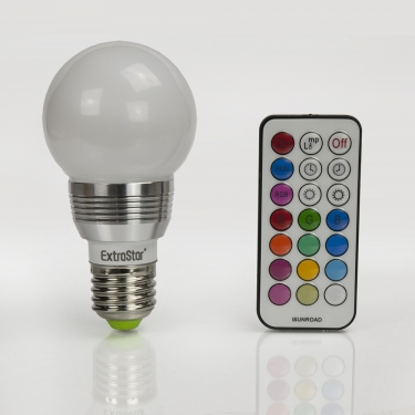 led rgb lampen e27 4w farbwechsel birne d extrastar. Black Bedroom Furniture Sets. Home Design Ideas