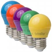 5x E27 4W LED Partylampe Dekoration Bunt