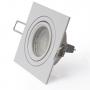 5x Alu Schwenkbar Rahmen für Deckenleuchte Quadrat Weiß