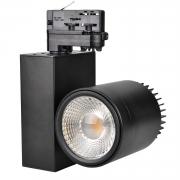 40W LED Spotlight Strahler für 3-Phasen-Stromschienen schwarz