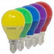 5x E14 4W LED Partylampe Dekoration Bunt