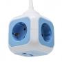 4-fach Steckdosenwürfel Kinderschutz 1,5M Kabel