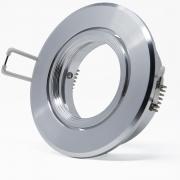5x Alu Schwenkbar Rahmen für Deckenspot Deckenstrahler Rund Silber