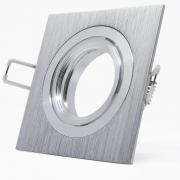 5x Alu Schwenkbar Rahmen für Deckenspot Deckenstrahler Quadrat Silber