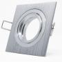 5x Aluminium Spotlight Rahmen für Deckenleuchte Krone Quadrat