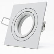 5x Alu Schwenkbar Rahmen für Deckenspot Deckenstrahler Quadrat Weiß
