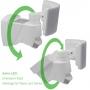 LED Außenstrahler mit Bewegungsmelder Lichtsensor Scheinwerfer IP44 Wasserdicht Außenleuchte verstellbar Rund WTT-1017