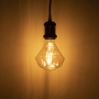 LED E27 Edison Filament 360lm Retro Vintage Glühfaden Diamant Look G110F