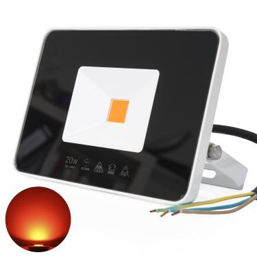 LED 20W Flutlicht farbig Außenstrahler Wandstrahler IP65 wasserdicht