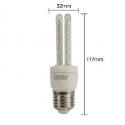 12x LED U-Form E27 5W Lampe