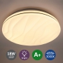 Deckenlampe 18W Deckenleuchte wellig für Wohnzimmer Schlaufzimmer