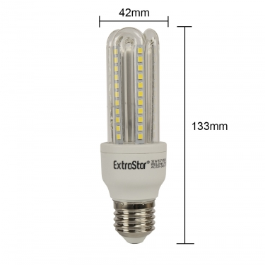 12x LED U-Form E27 10W Lampen