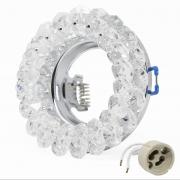 Einbaurahmen Kristall Einbaustrahler Rund Rahmen LED Fassung GU10