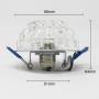 Einbaurahmen Kristall Einbaustrahler Rund Rahmen für G9 LED Leuchtmittel